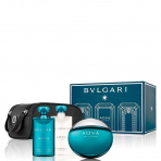 Bvlgari Aqva Pour Homme, Edt 100ml + 75ml Tusfürdő  +75ml After shave balm + Táska